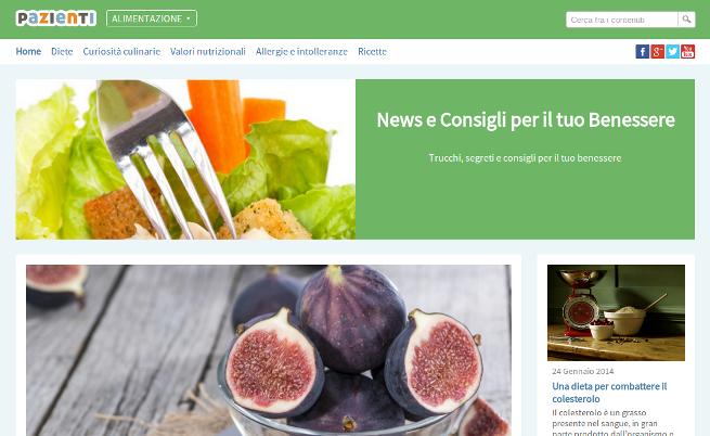 Nasce alimentazione.pazienti.it: news e consigli per mangiar sano!