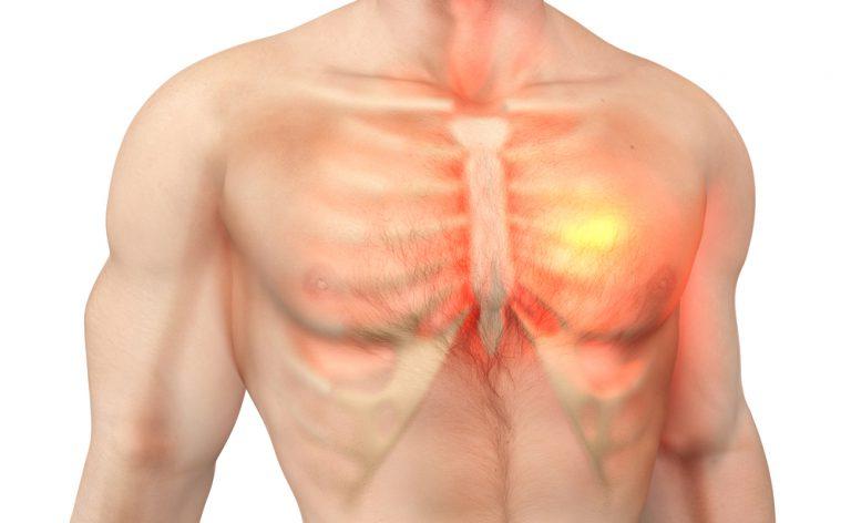 dolore al petto e mancanza di respiro